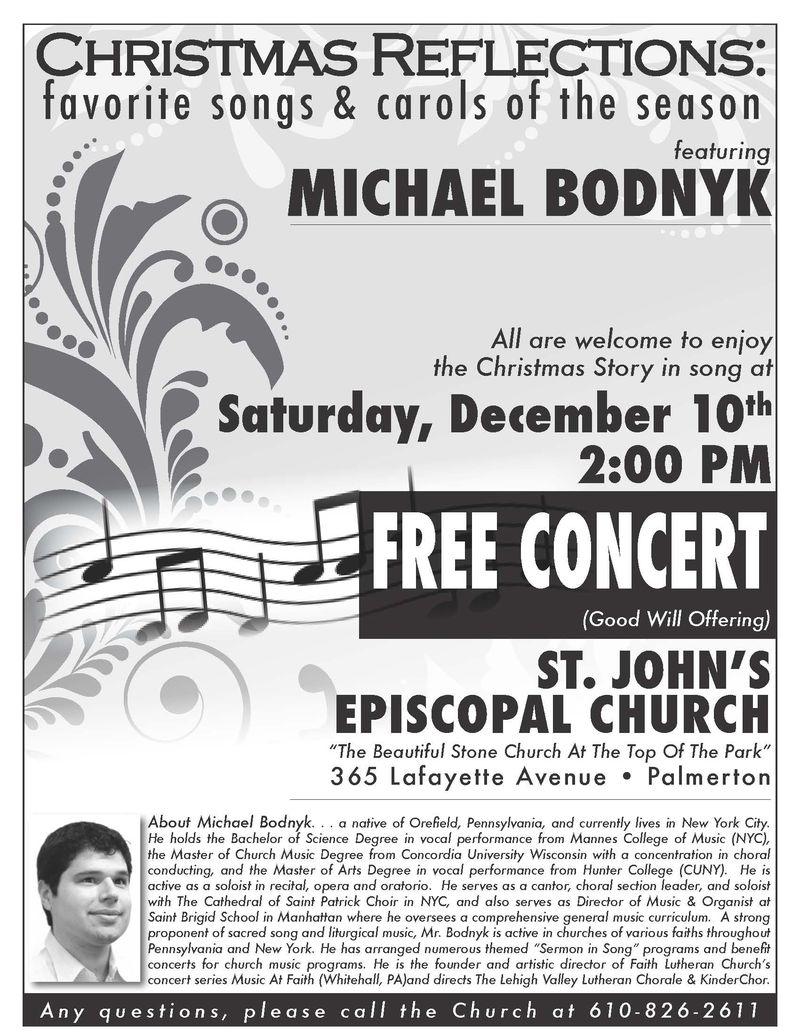 111128Christmas Reflections Michael Bodnyk Poster 2011