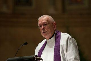 Bill preaching at Paul retirement